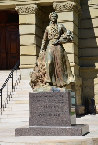 Esther Hobart Morris statue at the Wyoming State Capitol in Cheyenne