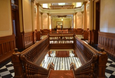 Second floor at the Wyoming State Capitol in Cheyenne