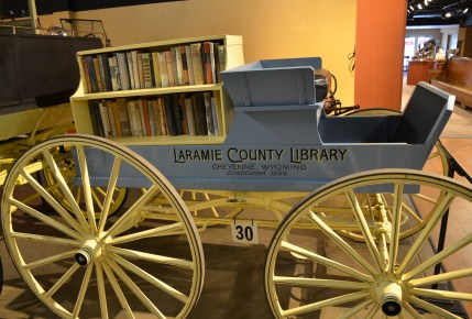Library wagon at the Cheyenne Frontier Days Old West Museum in Wyoming