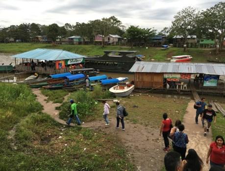 Docks at Leticia Amazonas Colombia