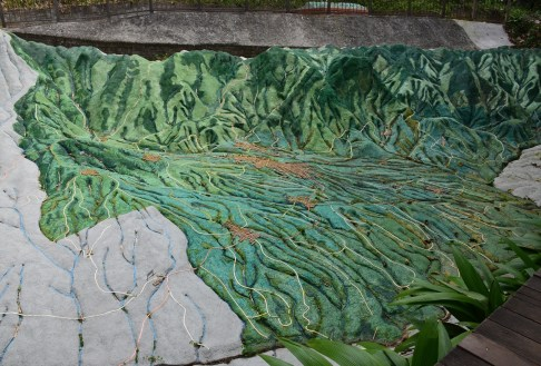 Topographical map at Quindío Botanical Garden
