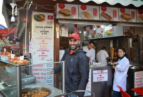 Serving lokma in Istanbul
