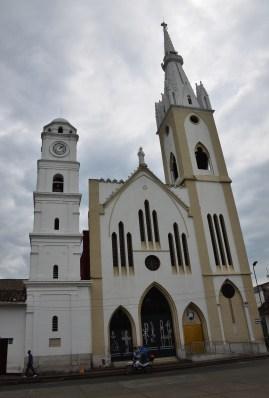 Iglesia de San Bartolomé on Plaza de Boyacá in Tuluá, Valle del Cauca, Colombia