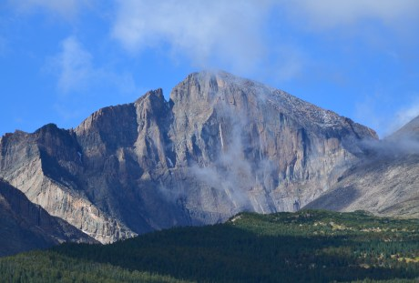 Longs Peak in Rocky Mountain National Park in Colorado