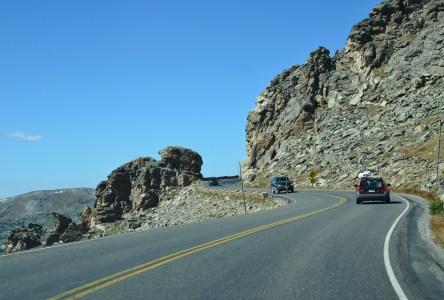 Rock Cut on Trail Ridge Road in Rocky Mountain National Park, Colorado