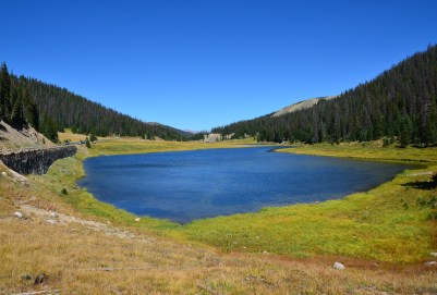 Poudre Lake on Trail Ridge Road in Rocky Mountain National Park, Colorado