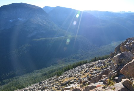 Forest Canyon Overlook on Trail Ridge Road in Rocky Mountain National Park, Colorado