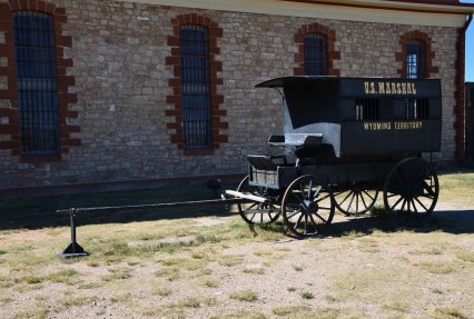 US Marshal's wagon at Wyoming Territorial Prison State Historic Site in Laramie