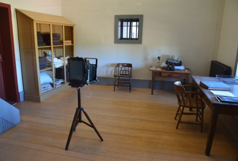 Processing room at Wyoming Territorial Prison State Historic Site in Laramie