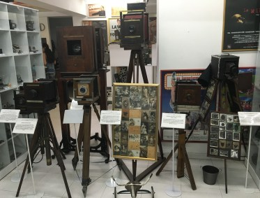 Antique cameras at Caliwood in Cali, Colombia