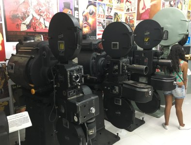 Projector room at Caliwood in Cali, Colombia
