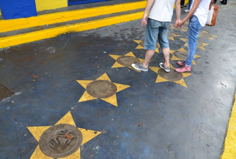Boca Juniors Walk of Fame at La Bombonera, La Boca, Buenos Aires, Argentina