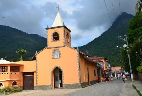 Igreja de São Sebastião in Vila do Abraão, Ilha Grande, Brazil