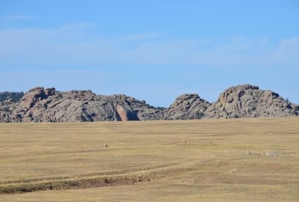 Landscape near Ames Monument near the former site of Sherman, Wyoming