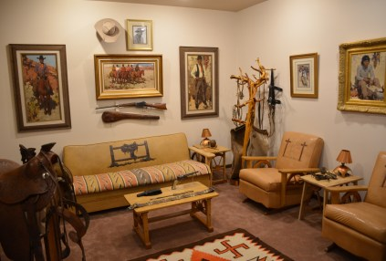 Burt Procter room at the Nelson Museum of the West in Cheyenne, Wyoming