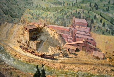 Model railroad at the Cheyenne Depot Museum in Wyoming