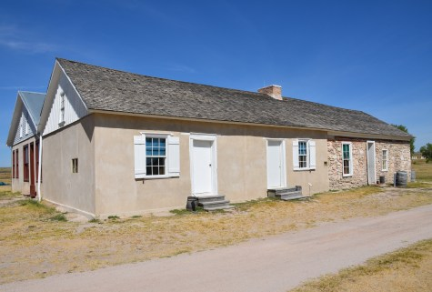 Post trader's store & post office at Fort Laramie National Historic Site in Wyoming