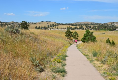 The path at Oregon Trail Ruts State Historic Park in Wyoming
