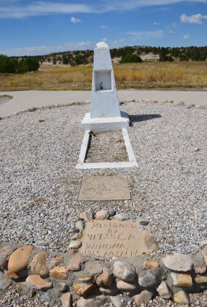 Lucindy Rollins gravesite near Oregon Trail Ruts State Historic Site in Wyoming