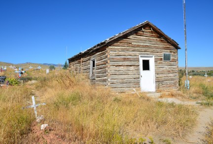 Chapel at Sacajawea Cemetery in Fort Washakie, Wyoming