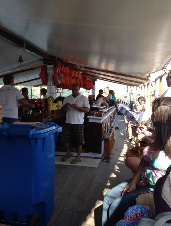 The boat ride from Angra dos Reis to Ilha Grande, Brazil