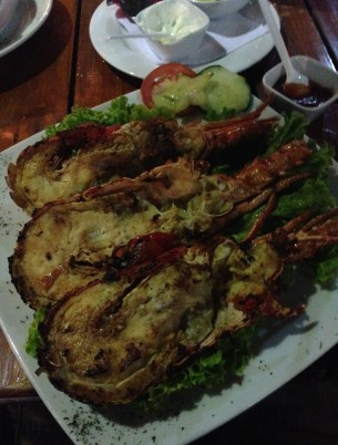 Lobster at Donde Chucho in Santa Marta, Magdalena, Colombia