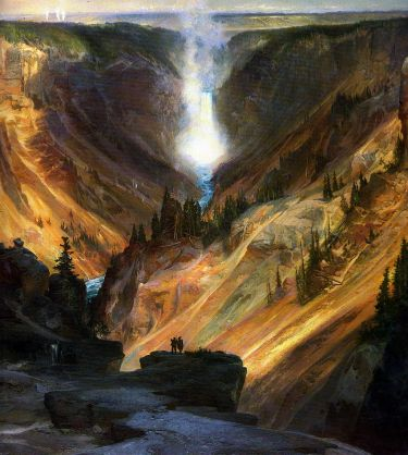 Yellowstone Canyon by Thomas Moran, 1872 (Source: National Museum of American Art)