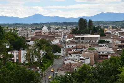 View from Capilla de Belén in Popayán, Cauca, Colombia