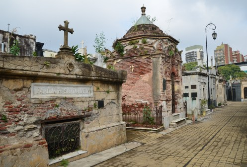 Tombs in disrepair at Cementerio de la Recoleta in Buenos Aires, Argentina