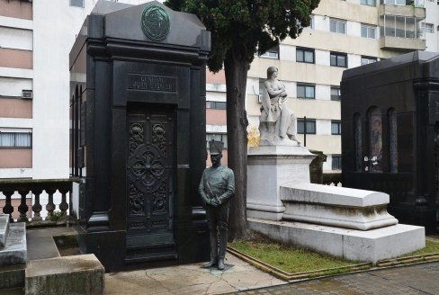 Tomb of General Juan Lavalle (1797-1841) at Cementerio de la Recoleta in Buenos Aires, Argentina