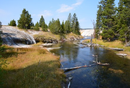 Firehole River at the Upper Geyser Basin in Yellowstone National Park, Wyoming