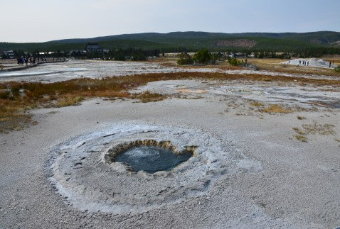 Beach Spring on Geyser Hill at the Upper Geyser Basin in Yellowstone National Park, Wyoming