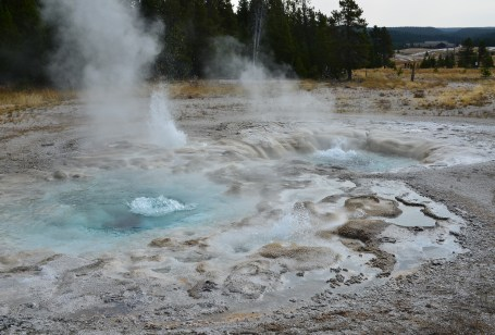 Spasmodic Geyser at the Upper Geyser Basin in Yellowstone National Park, Wyoming