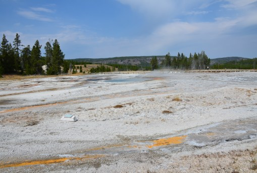 Daisy Group at the Upper Geyser Basin in Yellowstone National Park, Wyoming