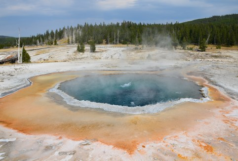Crested Pool at the Upper Geyser Basin in Yellowstone National Park, Wyoming
