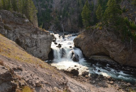 Firehole Falls at Firehole Canyon Drive in Yellowstone National Park, Wyoming