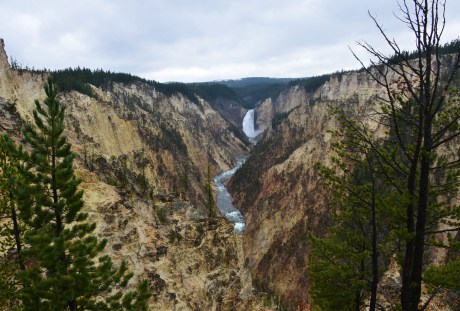 Lower Falls from Artist Point at Grand Canyon of the Yellowstone in Yellowstone National Park, Wyoming