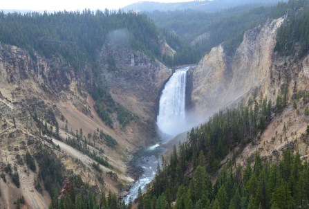 Lower Falls at Lookout Point at Grand Canyon of the Yellowstone in Yellowstone National Park, Wyoming