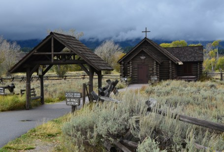 Chapel of the Transfiguration at Menor's Ferry Historic District in Grand Teton National Park, Wyoming