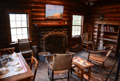 Maude Noble Cabin at Menor's Ferry Historic District in Grand Teton National Park, Wyoming