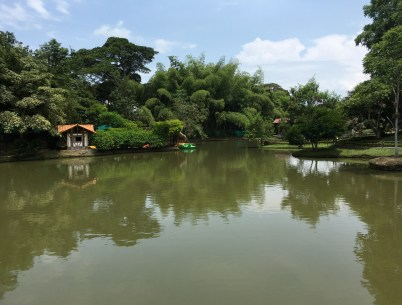 Pond at Parque Consotá in Galicia, Risaralda, Colombia