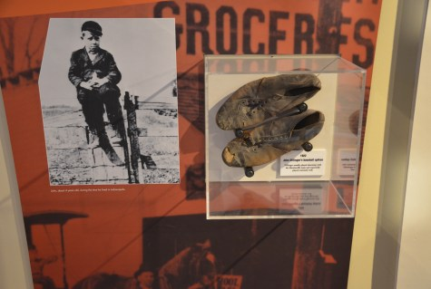 John Dillinger's childhood baseball cleats at the John Dillinger Museum in Crown Point, Indiana