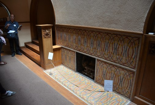 Fireplace at the front door of the Charnley-Persky House in Chicago, Illinois