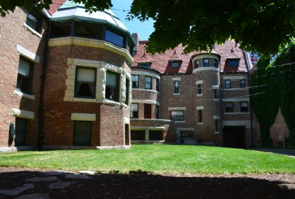Courtyard at the John J. Glessner House in Chicago, Illinois