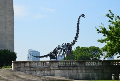Brachiosaurus outside the Field Museum in Chicago, Illinois