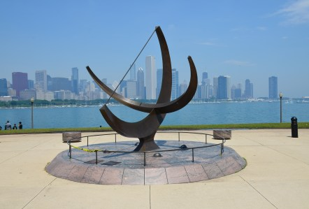Man Enters the Cosmos by Henry Moore in Chicago, Illinois