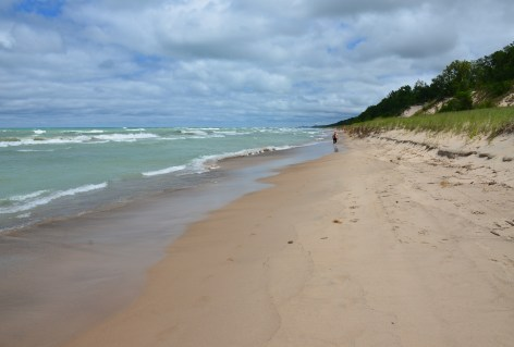 Beach looking east at Indiana Dunes State Park