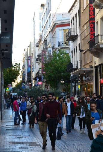 Ermou Street in Athens, Greece