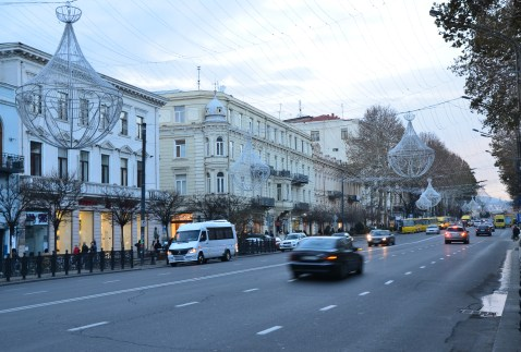 Rustaveli Avenue in Tbilisi, Georgia