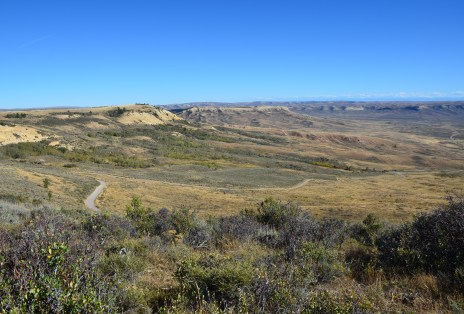 Scenic drive at Fossil Butte National Monument, Wyoming